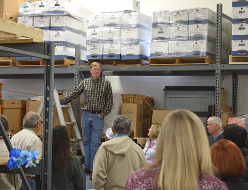 Mark Marshburn welcomes attendees to the Champion Seed Open House.
