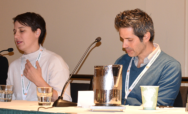 Kate Winslow and Guy Ambrosino spoke at the NOA Convention in Santa Fe.